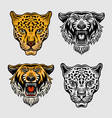 animals set objects in two styles vector image