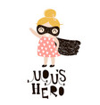 baby girls superhero isolated on white background vector image