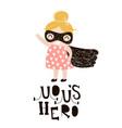 baby girls superhero isolated on white background vector image vector image