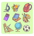 Back to School supplies vector image