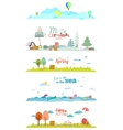 banners for tourism or camp vector image vector image