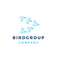 bird group colony logo icon vector image vector image