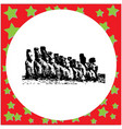black 8-bit black 8-bit moai statues in the rano vector image vector image