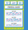 bold festival lineup poster flyer template vector image vector image