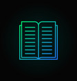 book line colorful icon open book concept vector image