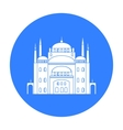Cairo Citadel icon in black style isolated on vector image