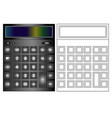 calculator icon in flat style calculator isolated vector image vector image