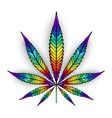 cannabis rainbow leaf vector image