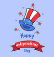 celebration card for independence day vector image vector image