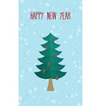 Christmas greeting card Christmas tree Happy new vector image vector image