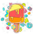 colorful of orange ice cream on white backgr vector image vector image