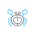 crab linear icon concept crab line sign vector image