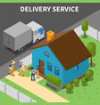 delivery service isometric background vector image vector image