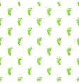 Eco footprint pattern cartoon style vector image vector image