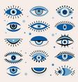 evil eye tribal ornamental ethnic graphic greece vector image vector image