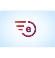 Fast line letter E logo monogram vector image