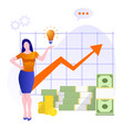 financial consultation statistics for increasing vector image vector image