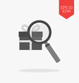 Finding gift icon Flat design gray color symbol vector image vector image