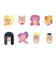 flat characters avatars with eyes vector image vector image