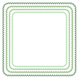 frame in shades of green vector image vector image
