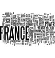 france at the forefront of europe text background vector image vector image