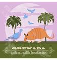 Grenada national symbols Antillean Armadillo vector image