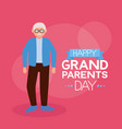 happy grandparents day flat design vector image vector image