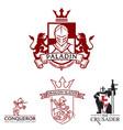 knight theme logo set vector image