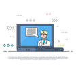 laptop with medical consultation vector image