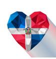 logo symbol of love the dominican republic vector image