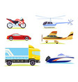 means transportation collection pictures vector image vector image