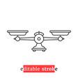 minimal editable stroke weight scales icon vector image