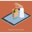 Online Foood Ordering Concept vector image vector image