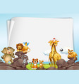 paper background with wild animals vector image