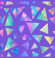 purple color triangle pattern vector image
