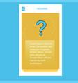 question mark mobile vertical banner design design vector image vector image