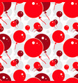 red party balloon pattern on white background vector image vector image