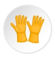 Rubber gloves icon cartoon style vector image vector image