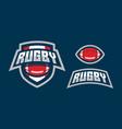 rugby logo design vector image