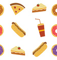 seamless fastfood restaurant theme pattern vector image vector image