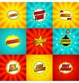 Set of color summer banners in pop art style vector image vector image