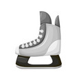 skiing boot with sharp razor sports isolated icon vector image