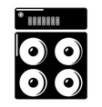 speaker box icon simple style vector image vector image