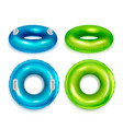 swimming rings set vector image vector image
