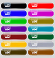 taxi icon sign Set from fourteen multi-colored vector image