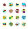 Technical support icons comics style vector image vector image