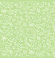 tender green pattern with spring flowers vector image
