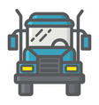 truck filled outline icon transport and vehicle vector image vector image