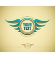 vintage label with wing vector image vector image