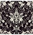 Vintage seamless damask pattern Dark background vector image vector image